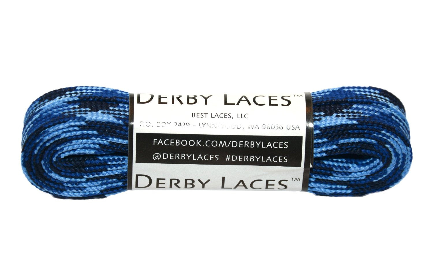 Derby Waxed Laces (Blue Camo)
