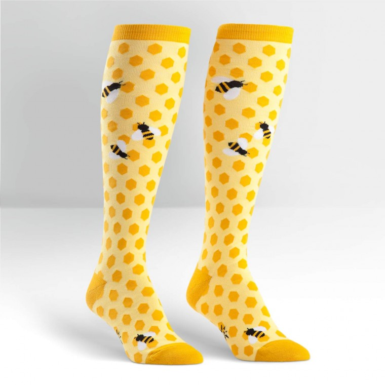 "Sock It To Me ""Bee's Knees"" Knee Sock"