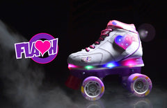 Crazy Skates Flash (White/Purple)
