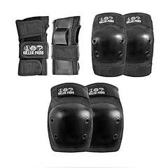 187 Adult 6 Pack Pad Set - Black