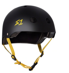 S1 LIFER HELMET - BLACK MATTE WITH YELLOW STRAPS