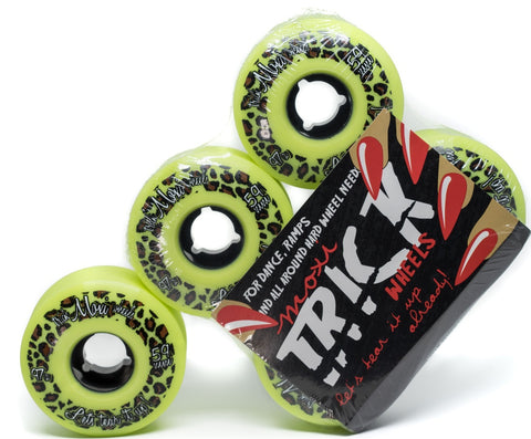 Moxi Trick Wheels (Lime 4 or 8 pack)