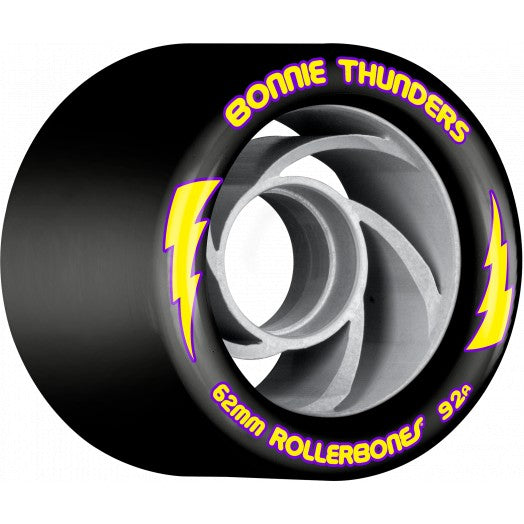 Rollerbones Turbo Bonnie Thunders Signature Rollerskate Wheel 62mm 92A Black (8 Pack)