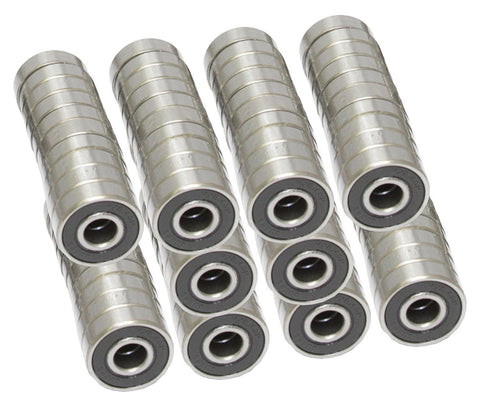 Black Bearings (608RS) (set of 16)