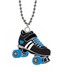 Derby Love Skate Necklace (blue glitter)
