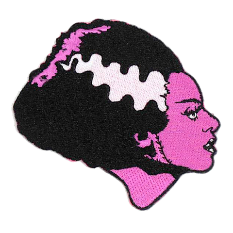 Rock Rebel The Bride of Frankenstein in Pink Patch 2""