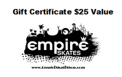 Gift Certificate (PAPER ONLY FOR IN STORE PURCHASE)