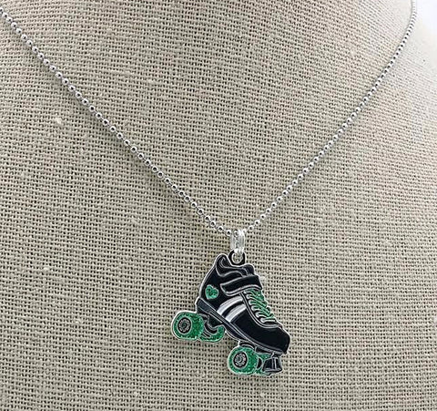 Derby Love Skate Necklace (New in Green!)