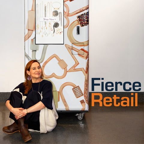 Marla Aaron sells luxury jewelry out of a vending machine