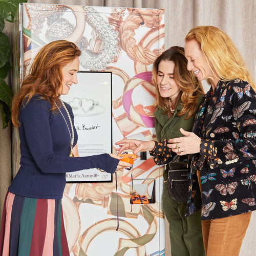 Marla with Monica Zwirner and Lucy Wallace Eustice, co-founders of MZ Wallace