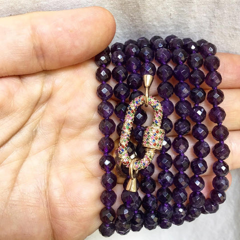 Faceted Amethyst Strand