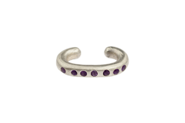 Sterling Silver Cuffling® Series Earcuffs with Amethyst