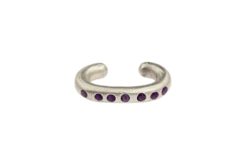 Sterling Silver Cuffling™ Series Earcuffs with Amethyst