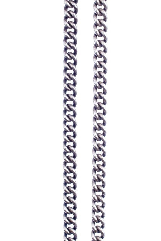Heavy Curb Chain in Silver