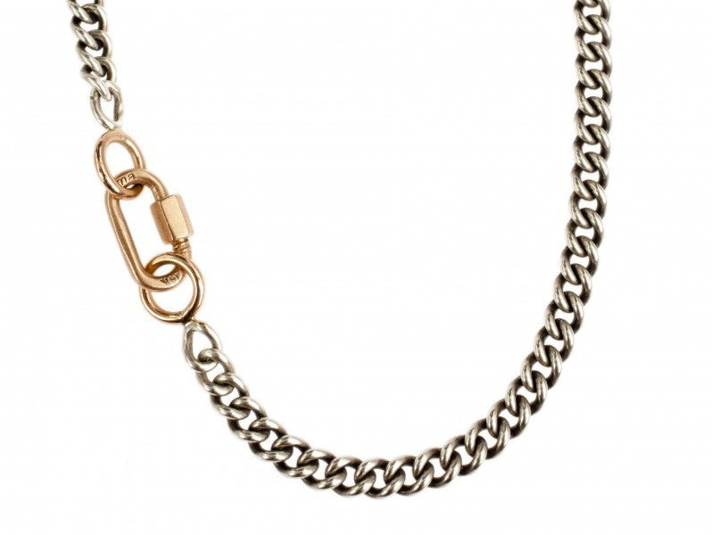 Rose Gold Babylock on a Heavy Curb Chain