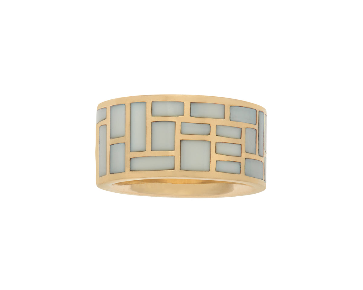 All Inlay Ring with Cachalong