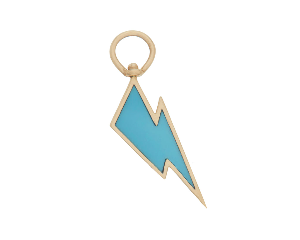Lightning Bolt Charm with Turquoise