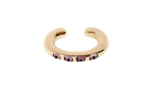 Yellow Gold Cuffling™ Series Earcuffs with Amethyst