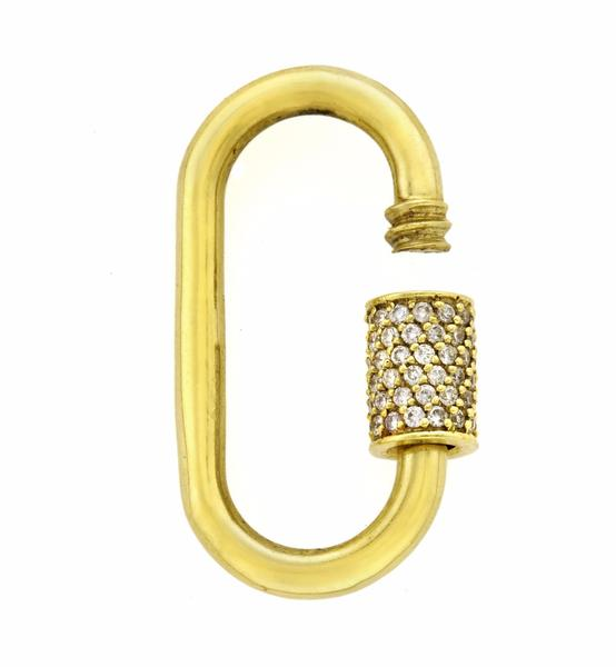 Stoned Medium Lock with Diamonds