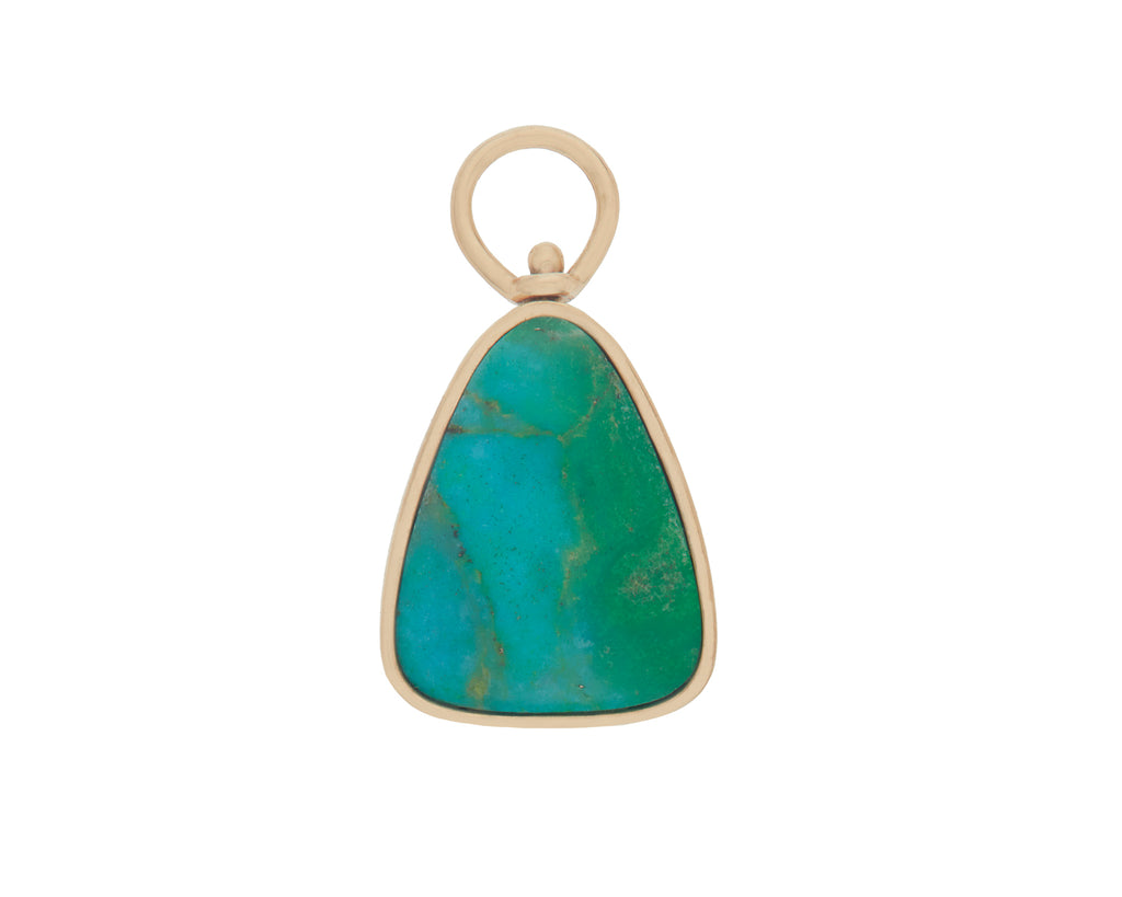 Menina Charm with Green Turquoise