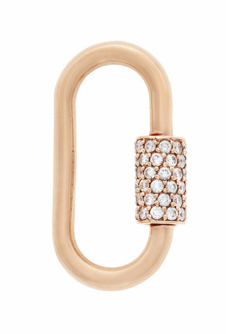 Rose Gold Stoned Regular Lock with Diamonds