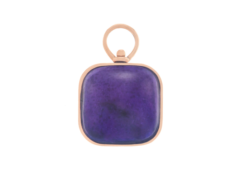 Small Squircle Charm with Charoite