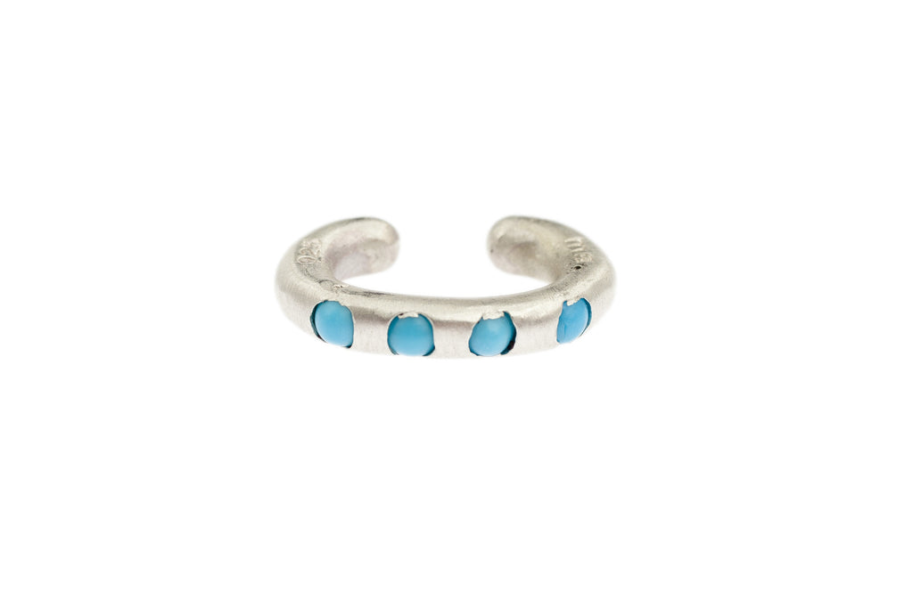 Sterling Silver Cuffling® Series Earcuffs with Cabochon Turquoise