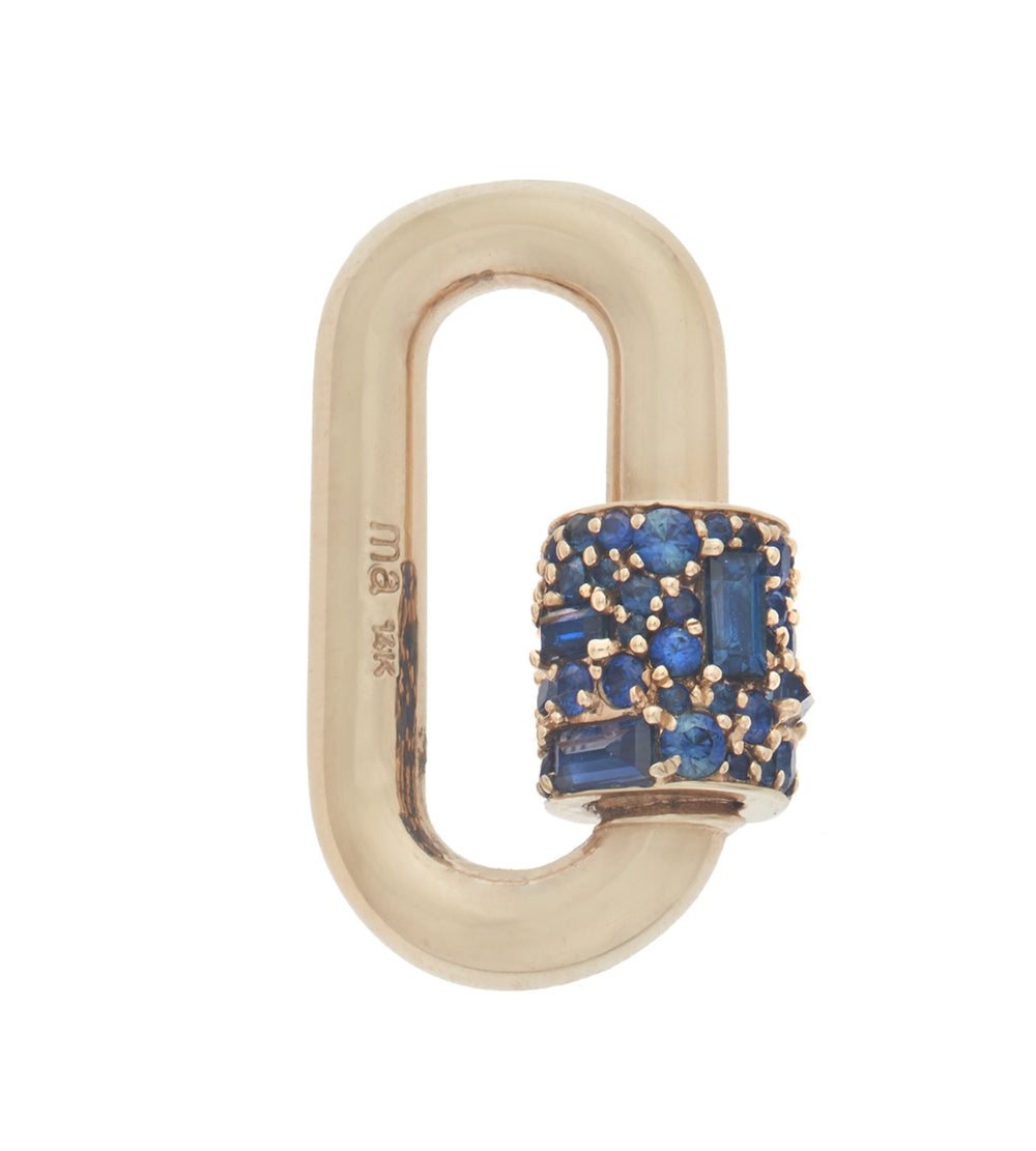 Stoned Chubby Medium Lock with Blue Sapphire
