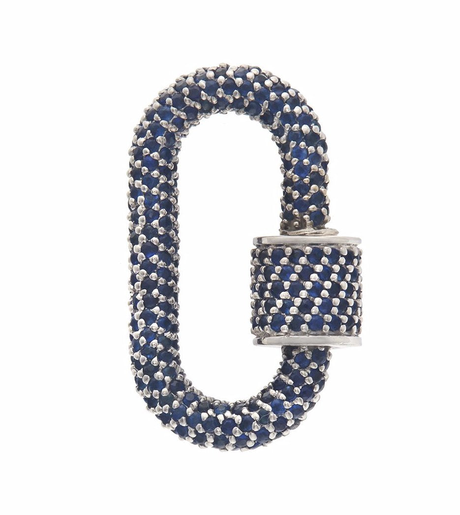 All Stone Lock with Blue Sapphire