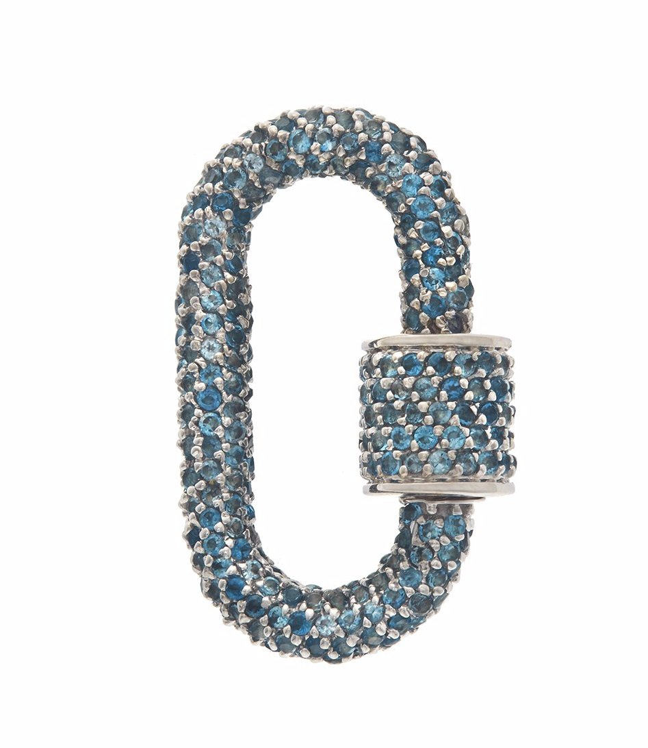 All Stone Lock with London Blue Topaz