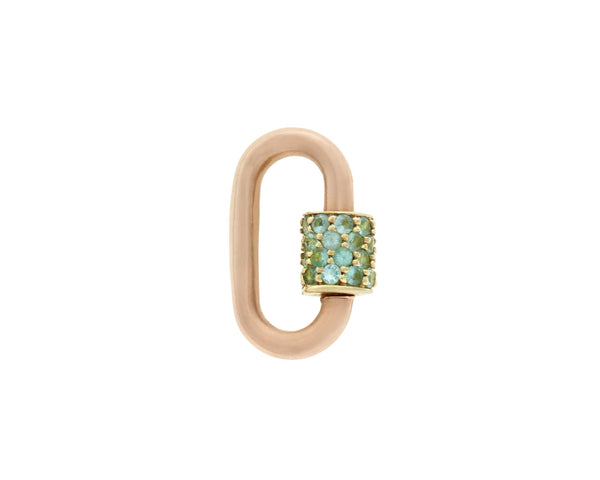 Rose Gold Stoned Baby Lock with Paraiba