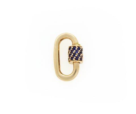 Yellow Gold Stoned Baby Lock with Blue Sapphire