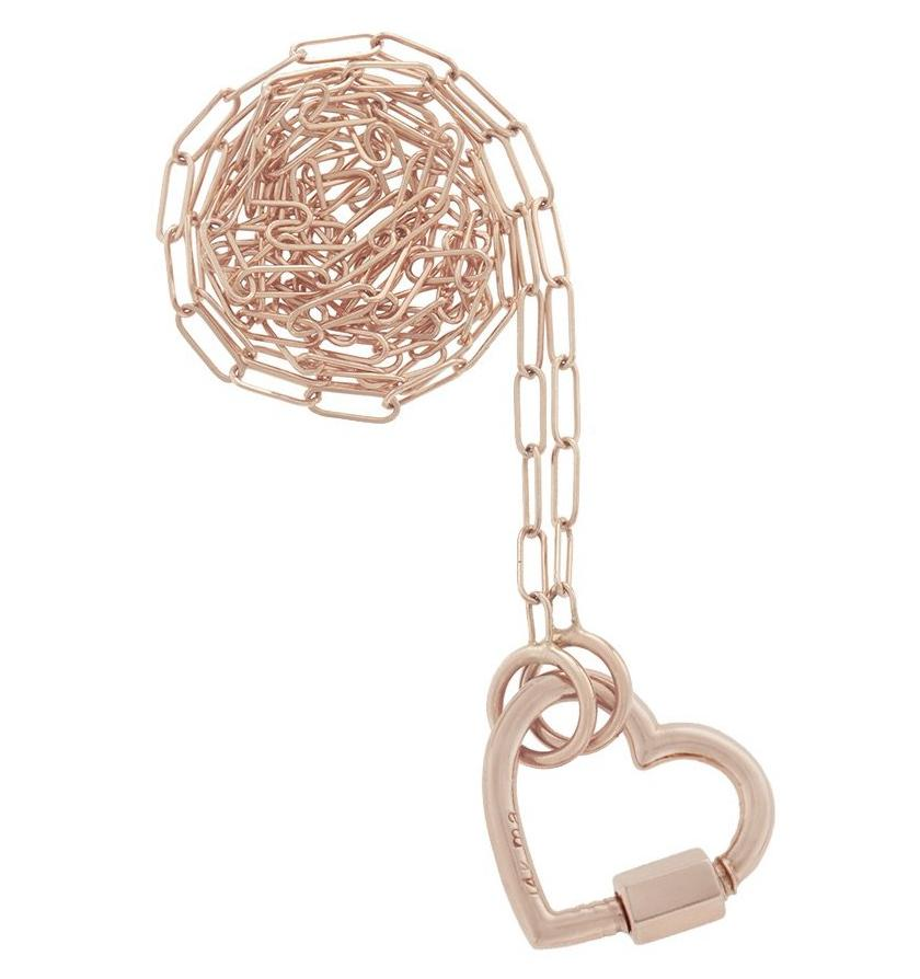 Rose Gold Baby Heartlock Necklace