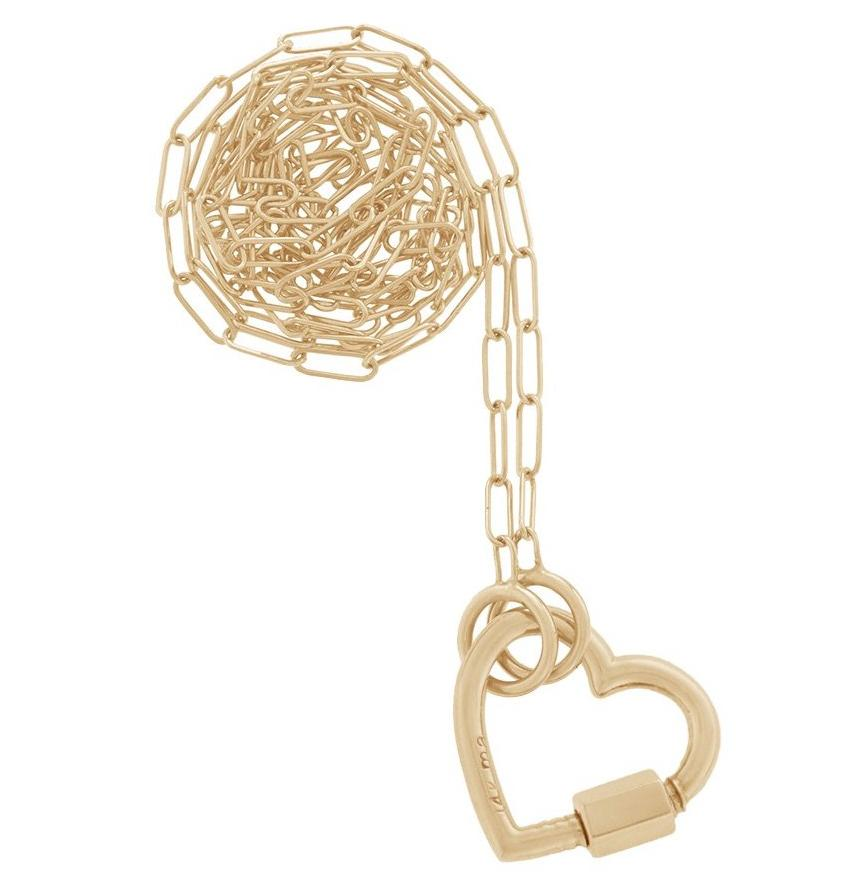 Yellow Gold Baby Heartlock Necklace
