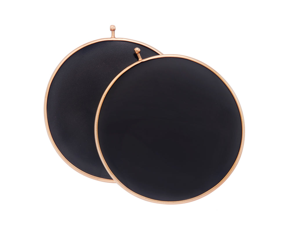 Black Jade Disc Pair
