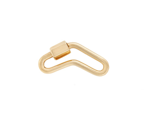 Yellow Gold Boomerang Lock