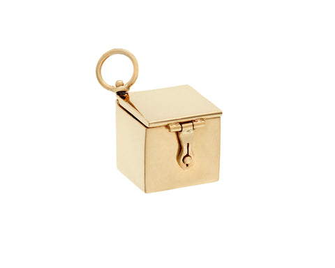 Yellow Gold Box Charm
