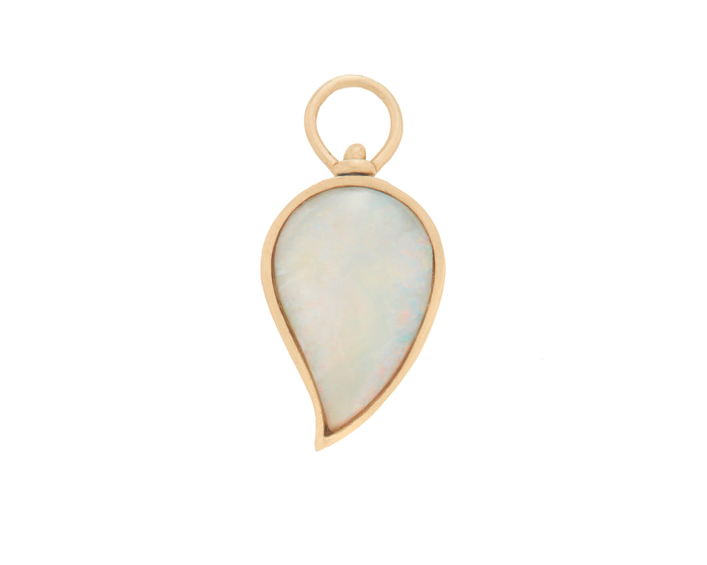 Small Drop Charm with Opal