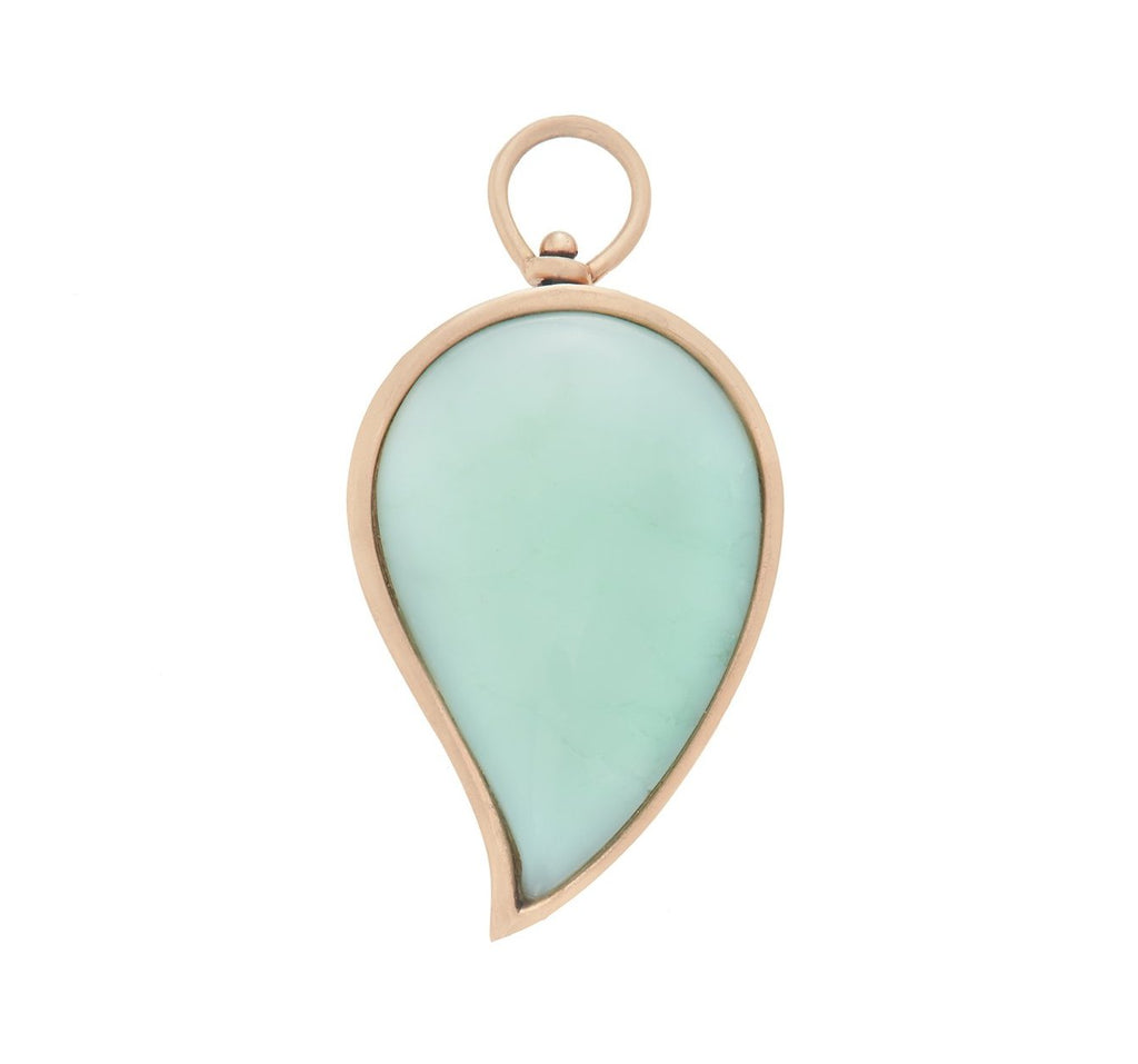 Large Drop Charm with Paraiba Opal