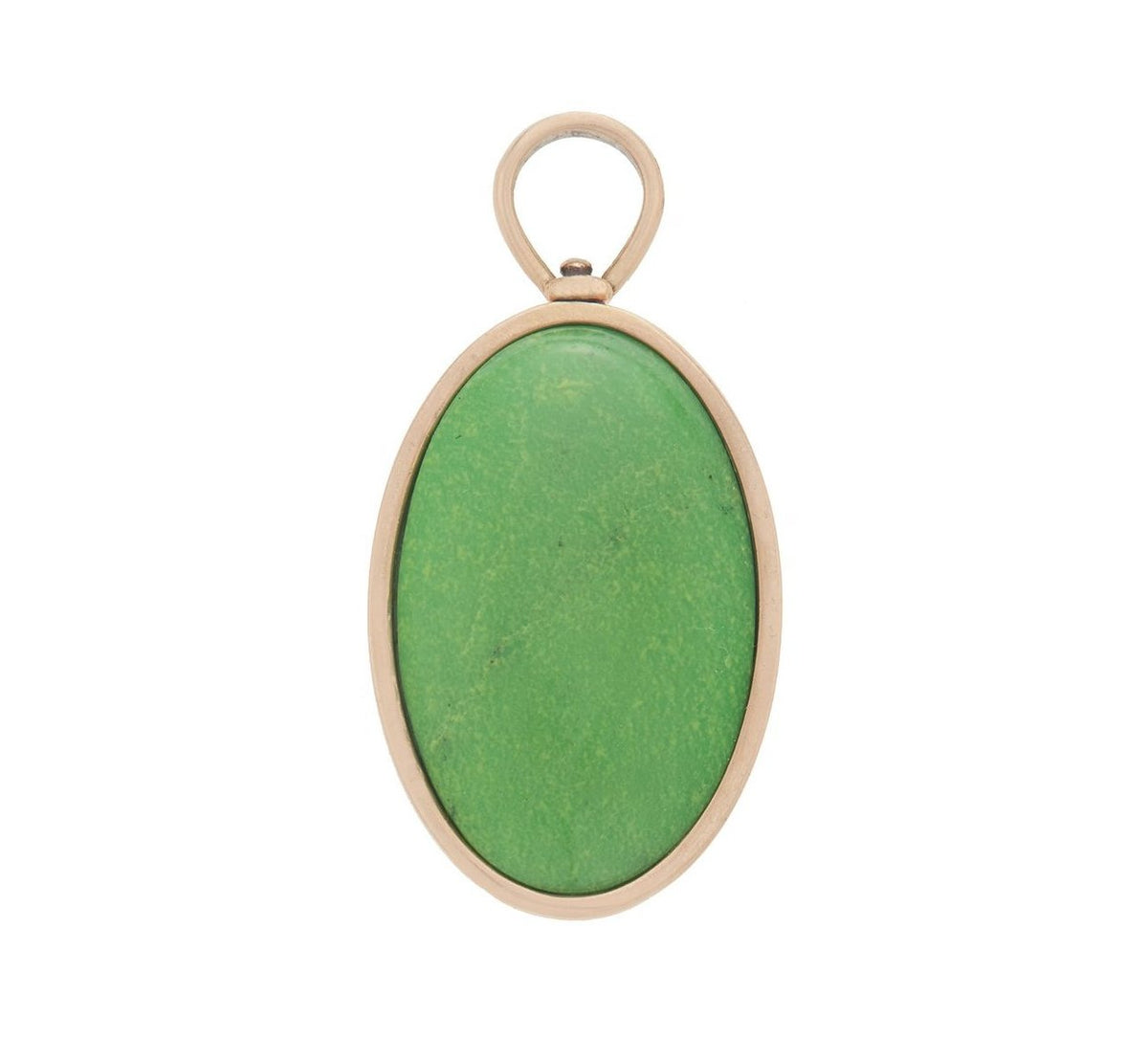 Large Oval Charm with Green Turquoise
