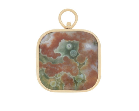 Large Squircle Charm with Landscape Jasper
