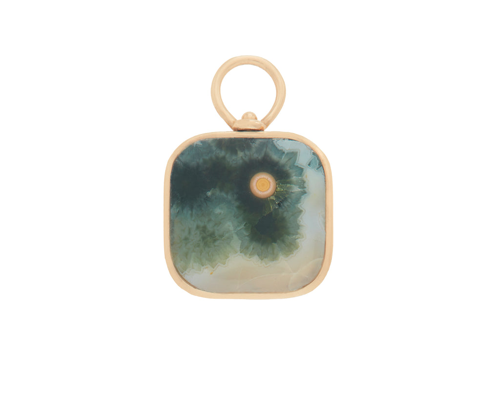 Small Squircle Charm with Landscape Jasper