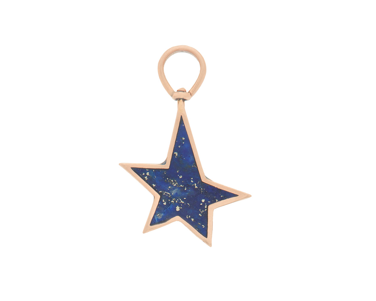 Star Charm with Lapis