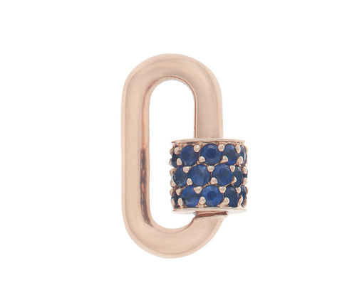 Rose Gold Stoned Chubby Baby Lock with Blue Sapphires