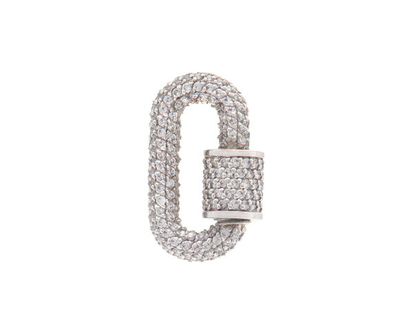 Platinum All Stone Chubby Babylock with Diamonds