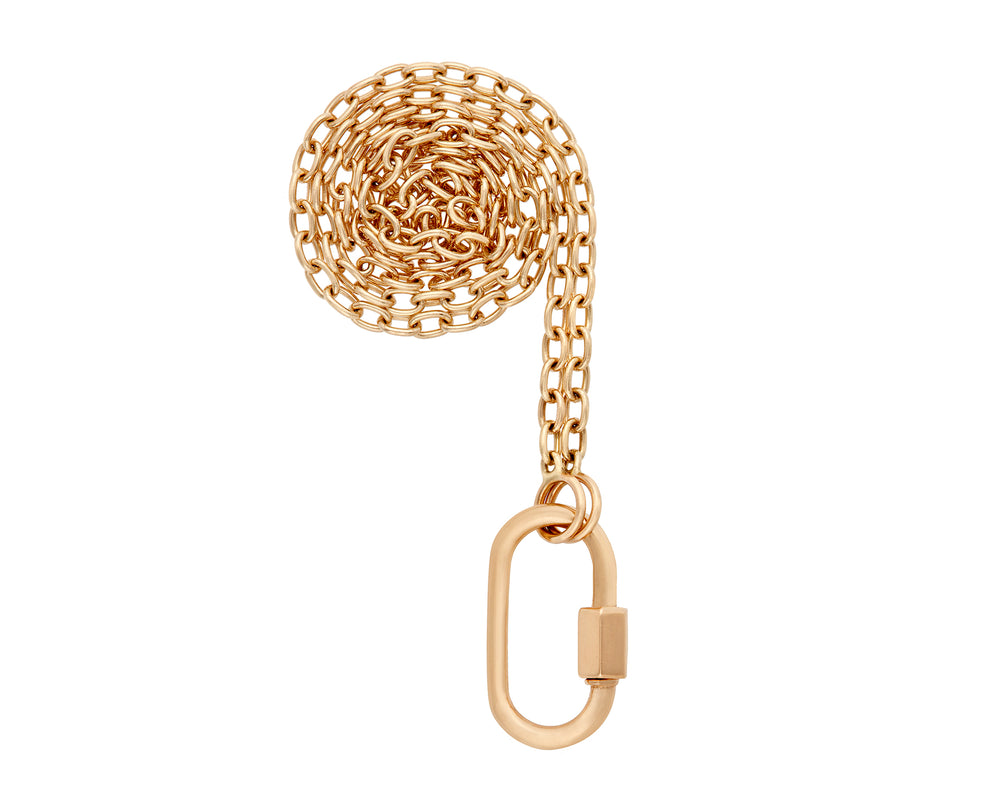 Yellow Gold Medium Lock on a Pulley Chain