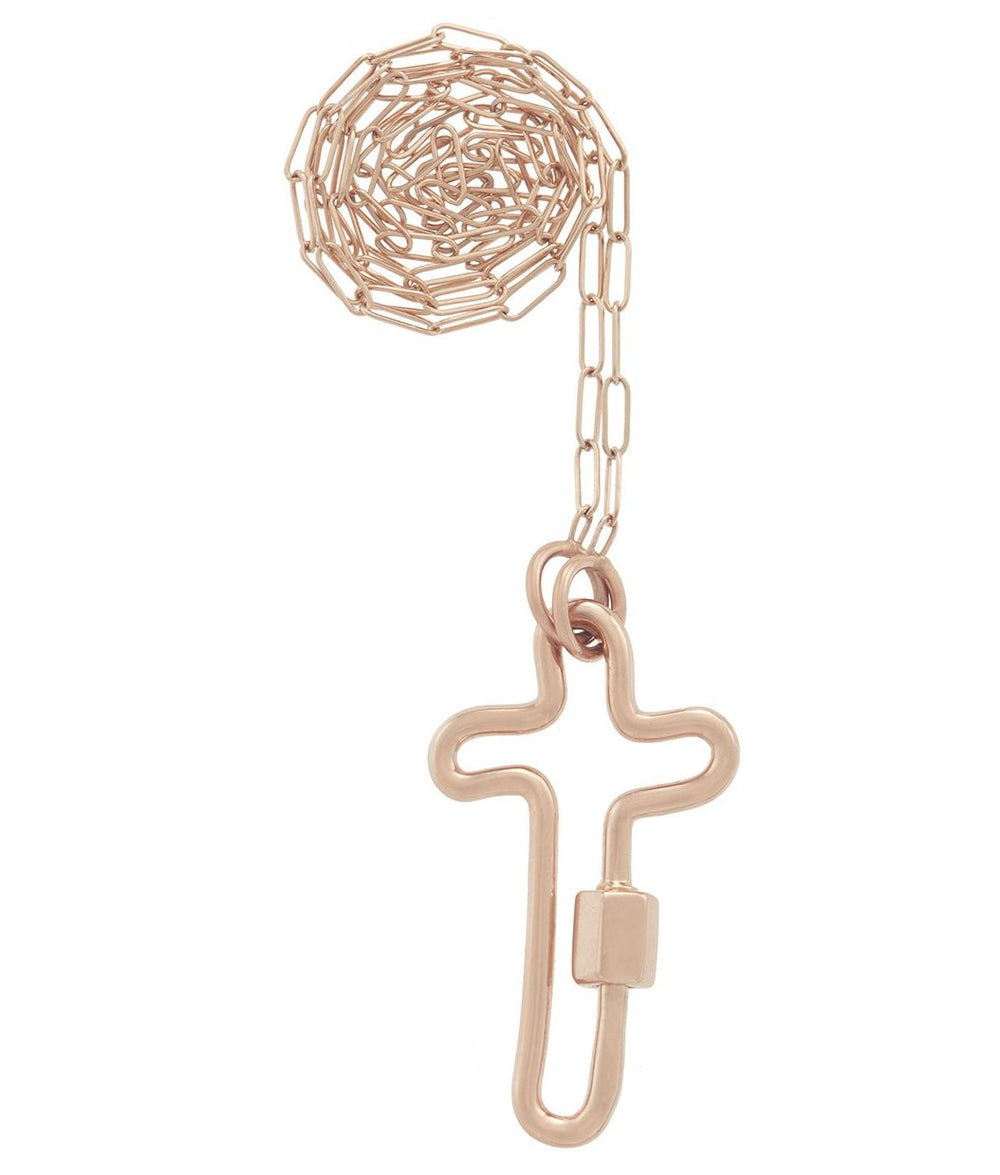 Rose Gold Crosslock Necklace