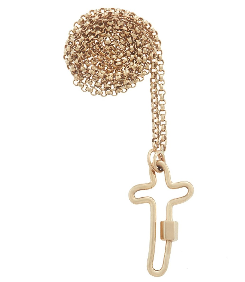 Yellow Gold Crosslock Necklace