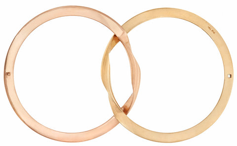 Yellow Gold and Rose Gold Di Me Bracelet