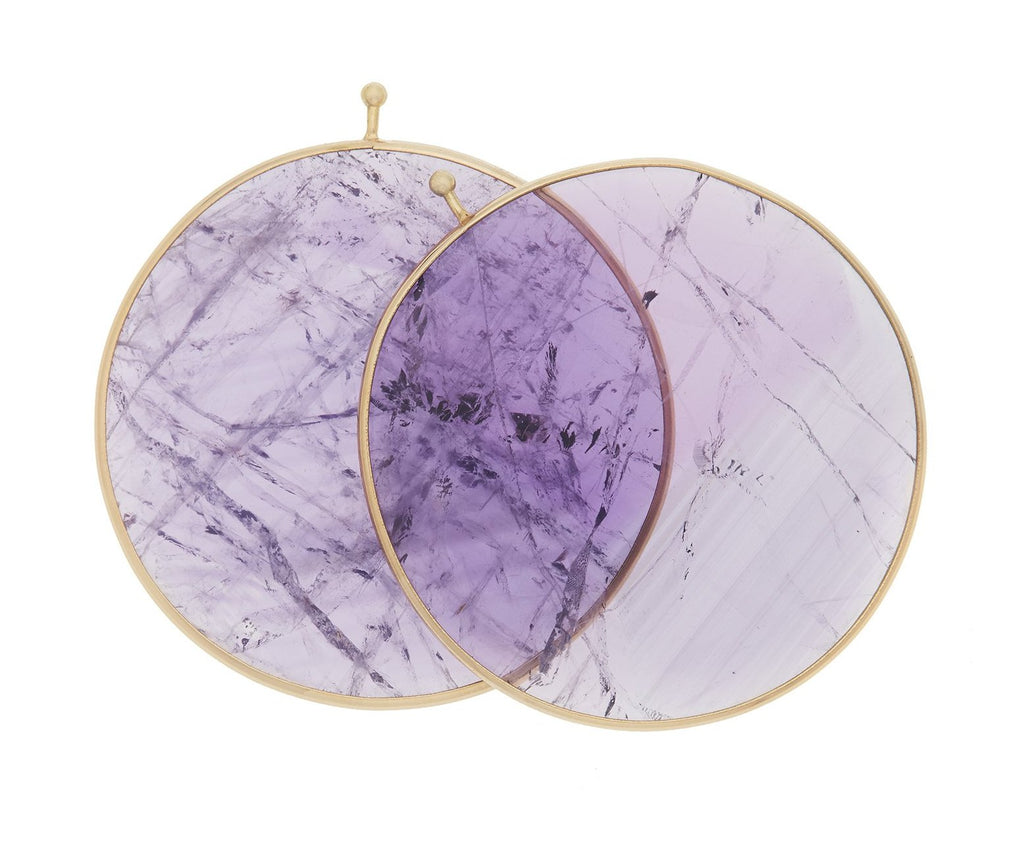 Amethyst Disc Pair